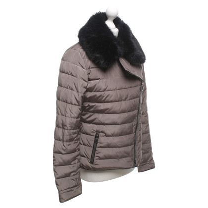 Armani Jeans Quilted jacket with faux fur trim