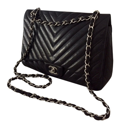 Chanel Flap Bag Chevron Jumbo