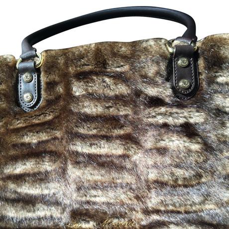 Moschino Love Handtasche aus Webpelz Braun Billig Verkauf Großer Verkauf Neue Angebote Freies Verschiffen Die Besten Preise Billige Websites nf1JLc