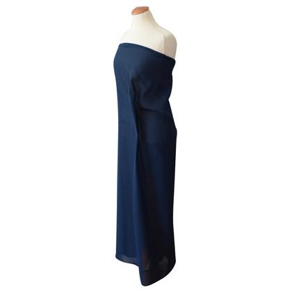 Jil Sander robe bleue Bandeau
