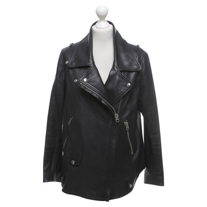 Acne Leather jacket in black