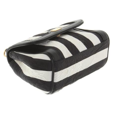 Dolce & Gabbana Umhängetasche mit Muster Schwarz / Weiß Billig Bester Laden Zu Bekommen r6W0SqSoe