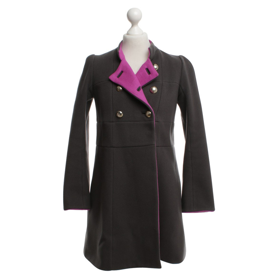 Sonia Rykiel Coat in dark gray / pink