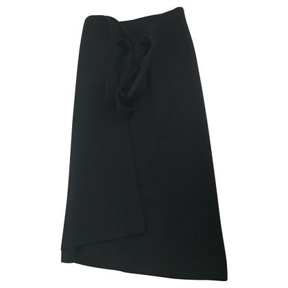 Maje Wrap jupe en noir
