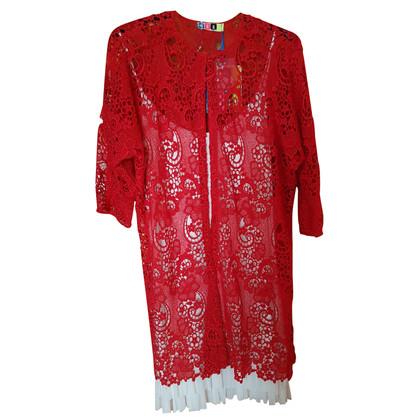 MSGM Rode kanten jurk