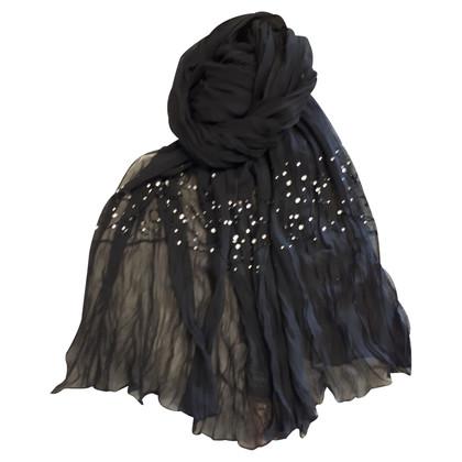 Laurèl Sciarpa di seta in nero