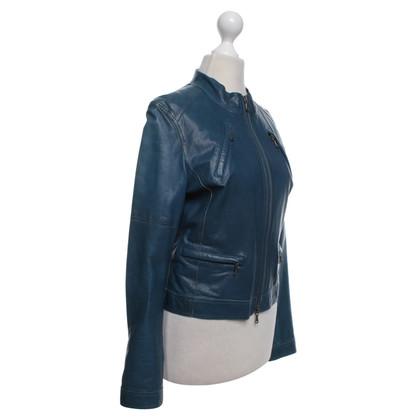 Strenesse Blue giacca di pelle leggera in stile biker