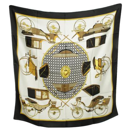 Hermès Silk scarf with motif print