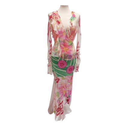 Christian Dior 2 piece zijden jurk