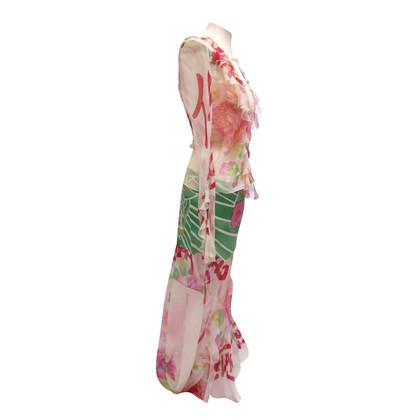 Christian Dior abito di seta due pezzi