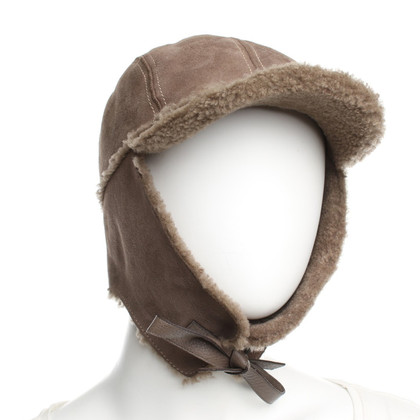 Gucci Lamsdarm hoed in bruin