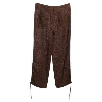 Max & Co Lino-Pantaloni a Brown