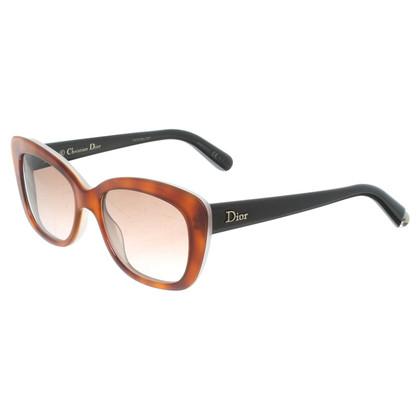 Christian Dior Cateye zonnebril in bruin