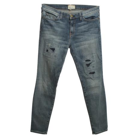 Current Elliott Jeans im Used-Look Blau