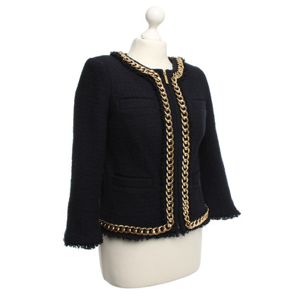 Michael Kors Bouclé jacket in dark blue