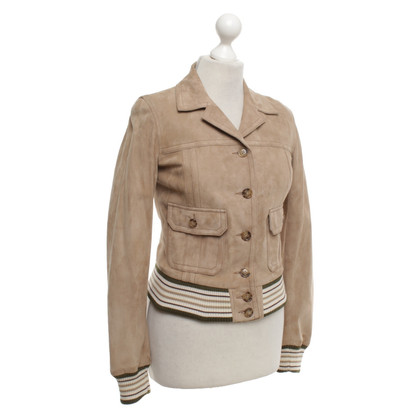 Dolce & Gabbana Leather jacket in beige