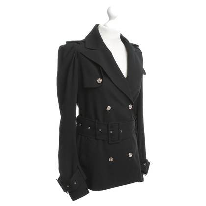John Galliano Trenchcoat in zwart