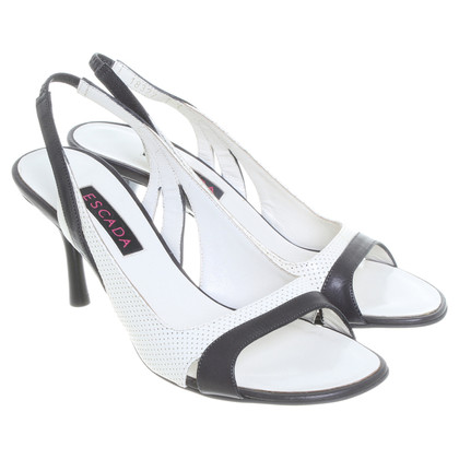 Escada Sandals in black and white