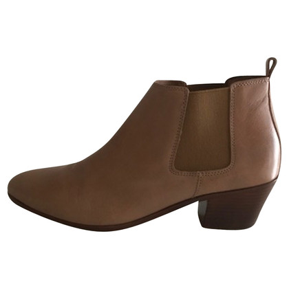 Closed Ankle boots in beige