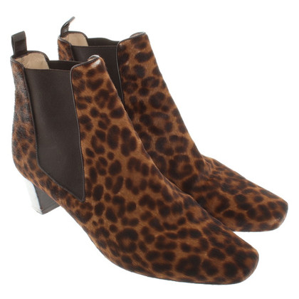 Christian Louboutin Ankle boots with animal print