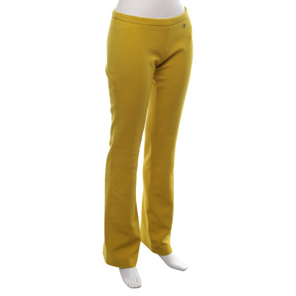 Versace trousers in yellow