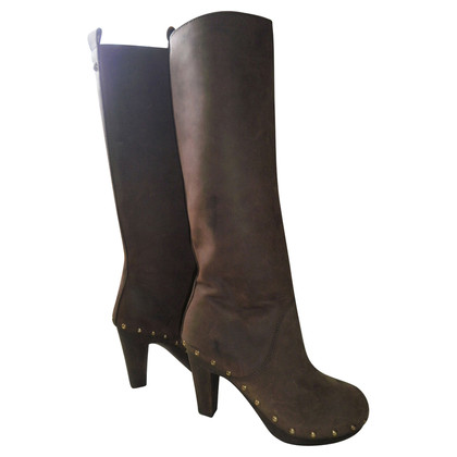 D&G Brown leather boots