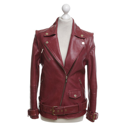 Karl Lagerfeld Lederjacke in Bordeaux