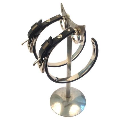 Christian Dior Black hoop earrings