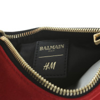 Balmain X H&M Pochette in red and black