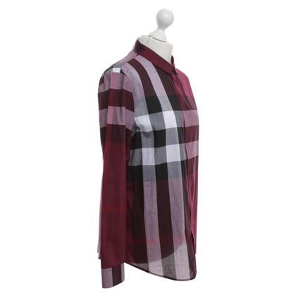 Burberry Shirt con motivo a quadri
