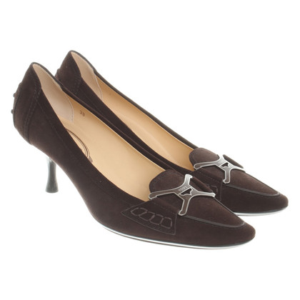 Tod's pumps in donkerbruin