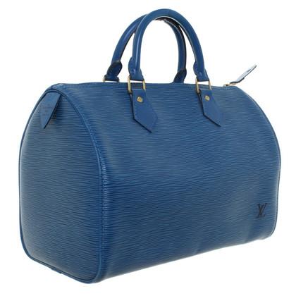 "Louis Vuitton ""Speedy 30 Epi Leather"" in blue"