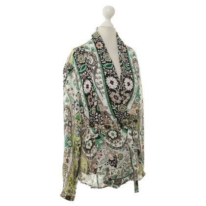 Etro Silk blouse with shawl collar