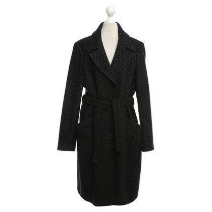 Hugo Boss Wool coat in gray / black
