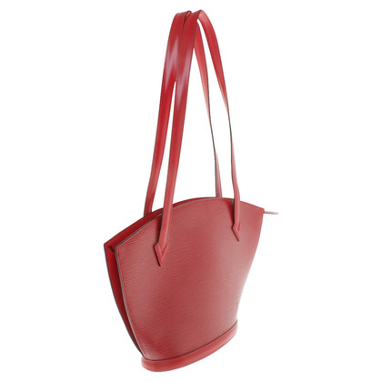 "Louis Vuitton ""Saint Jacques Epi leather"" in red"
