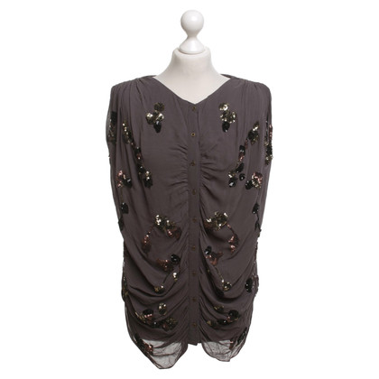 Day Birger & Mikkelsen Top in grey with sequin trim