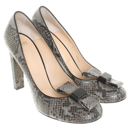 Bally pumps made of python leather