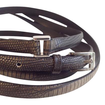 René Lezard Belt in reptile finish