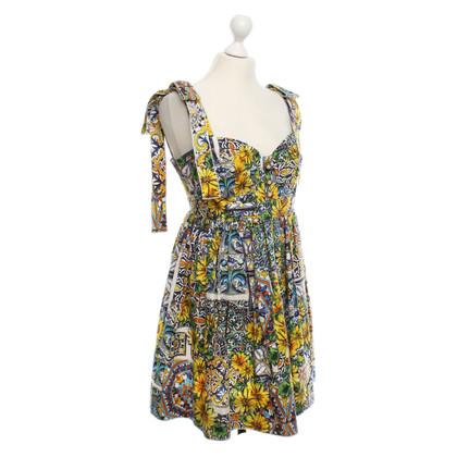 Dolce & Gabbana Bustier jurk met bloemenprint