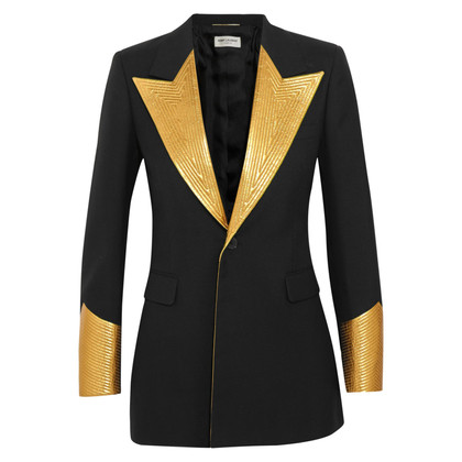 Saint Laurent Stylish jacket with leather lapels