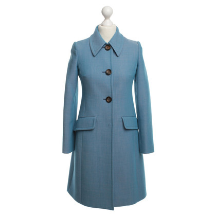Miu Miu Coat in blue / pink