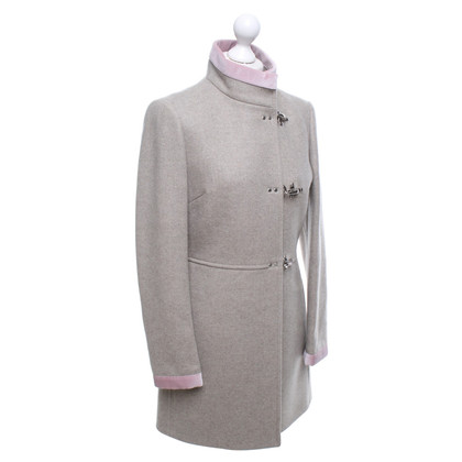 Fay Cappotto con piping di colore rosa