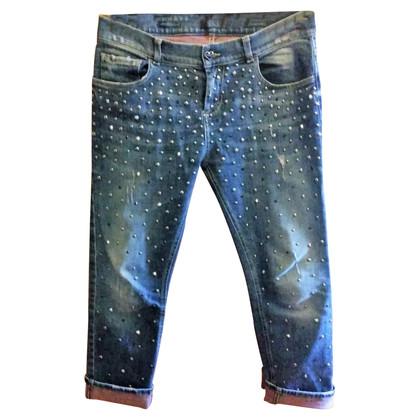 Twin-Set Simona Barbieri Boyfriend jeans with studs