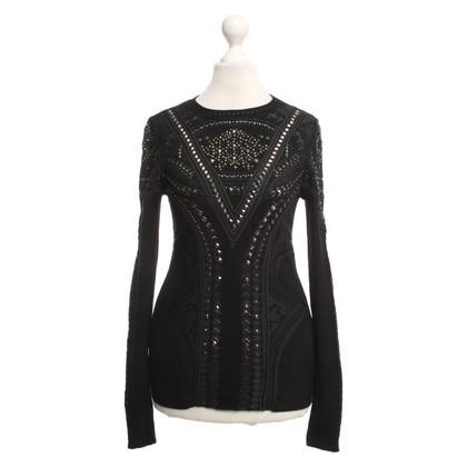 Roberto Cavalli Black sweater with studs
