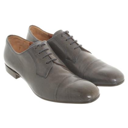 Dries van Noten Chaussures à lacets en bleu foncé