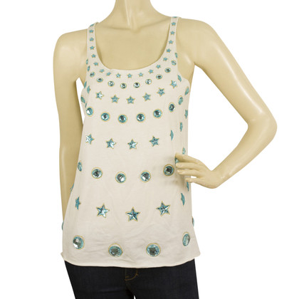 Manoush Tank top with gemstone trim