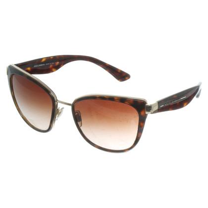 Dolce & Gabbana Sonnenbrille in Schildpatt-Optik