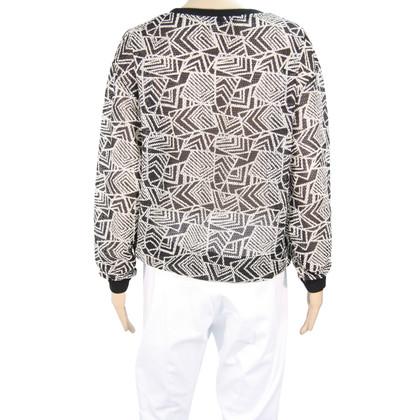 Reiss Pullover in black / white