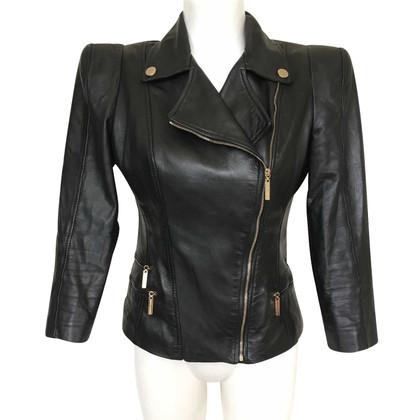 Elisabetta Franchi Black leather jacket