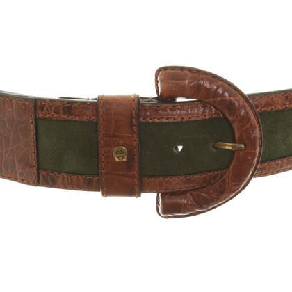 Aigner Leather belt in bicolor